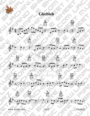 Ghebleh Sheet Music