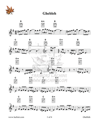 Gheblehgah Sheet Music