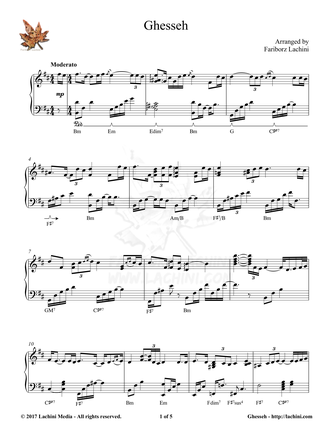 Ghesseh Sheet Music