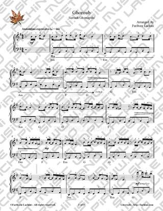 Ghoroub Sheet Music