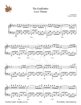 The Godfather Sheet Music
