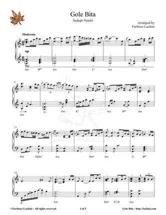 Gole Bita Sheet Music