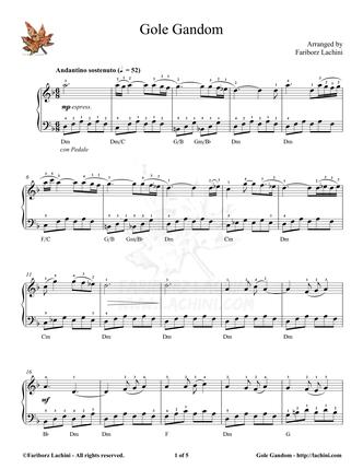 Gole Gandom 音乐页