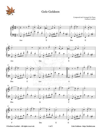 Gole Goldoun Sheet Music