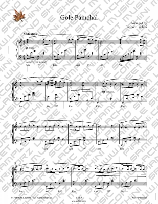 Gole Pamchal Sheet Music
