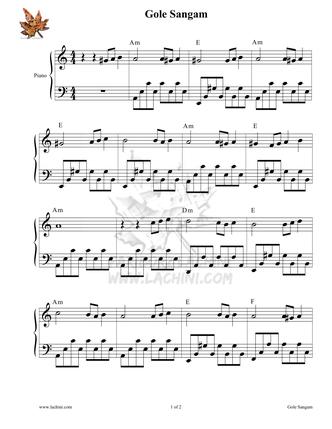 Gole Sangam 2 Musiknoten
