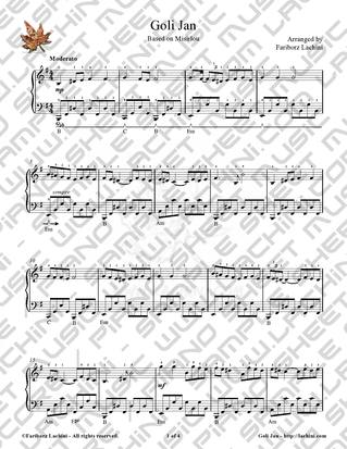 Goli Jan Sheet Music