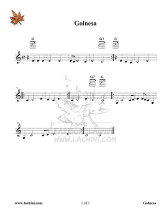 Gol Nesa Sheet Music
