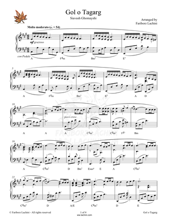 Golo Tagarg Sheet Music