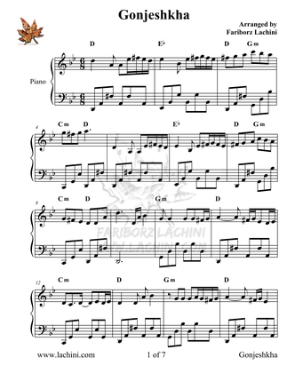 Gonjeshkha Sheet Music