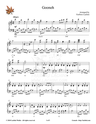 Gooneh Sheet Music