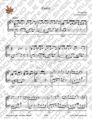 Goriz Sheet Music