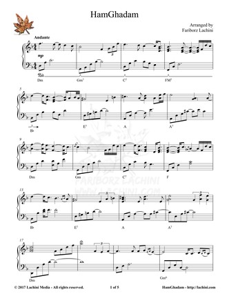 Hamghadam Sheet Music