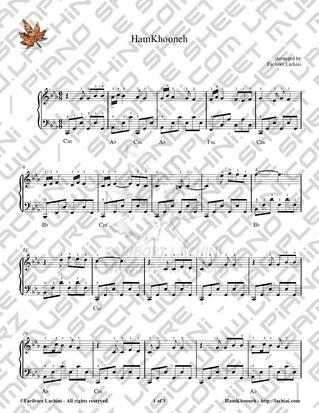 Ham Khooneh Sheet Music