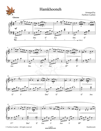 HamKhooneh Sheet Music