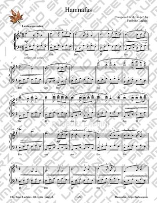 Hamnafas Sheet Music