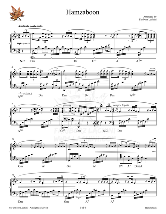 Hamzaboon Sheet Music