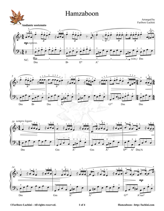 Ham Zaboon Sheet Music
