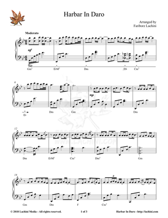 Harbar In Daro Sheet Music