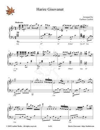 Harire Gisovanat Sheet Music