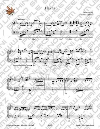 Havas Sheet Music