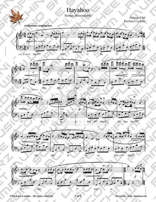 Hayahoo Sheet Music