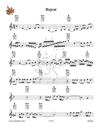 Hejrat Sheet Music