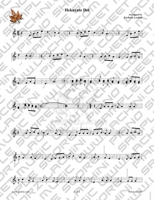 Hekayate Del Sheet Music