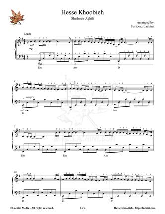 Hesse Khoobieh Sheet Music