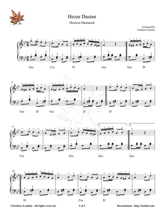 Hezar Dastan Sheet Music