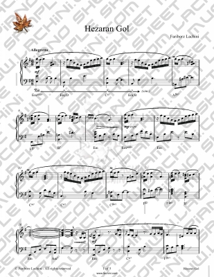 Hezaran Gol Sheet Music