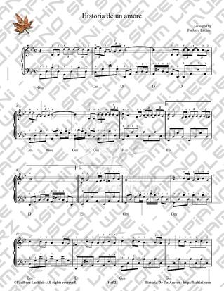 Historia de un Amore Sheet Music
