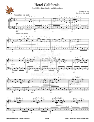 Hotel California Sheet Music