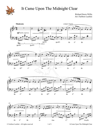 it came upon a midnight clear chords pdf