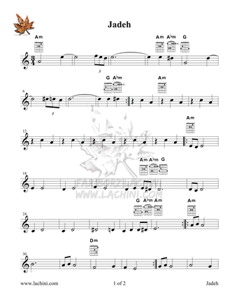 Jadeh Sheet Music