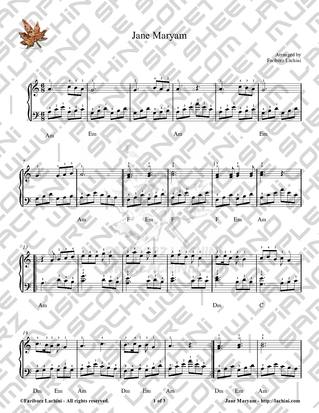 Jane Maryam 2 Sheet Music