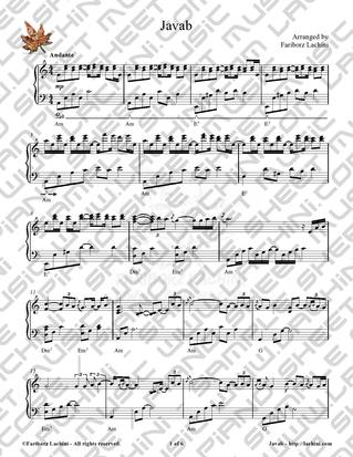 Javab Sheet Music