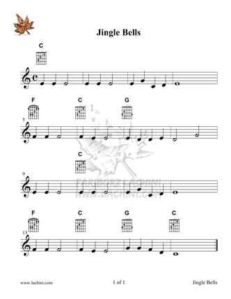 Jingle Bells Musiknoten