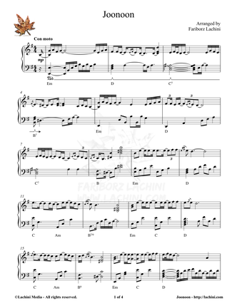 Joonoon Sheet Music