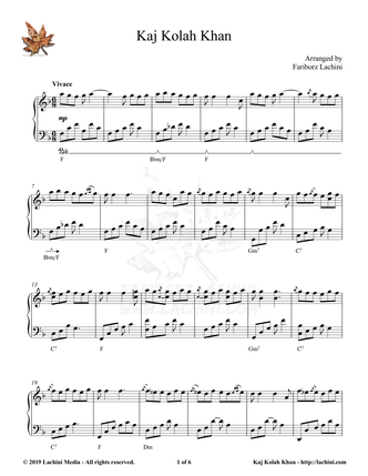 Kaj Kolah Khan Sheet Music