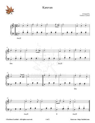 Karevan Sheet Music