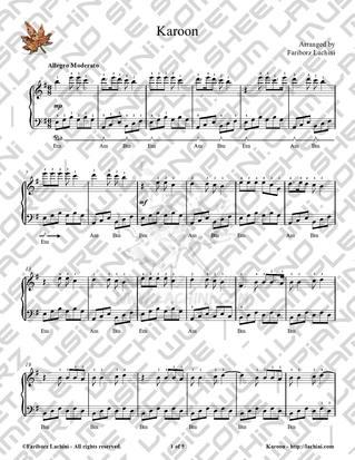 Karoon Sheet Music
