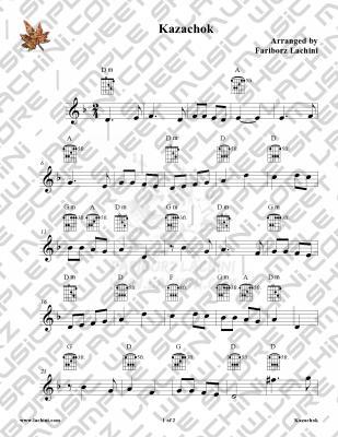 Kazachok Sheet Music