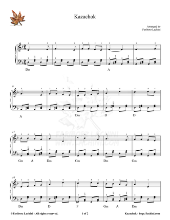 Kazachok Sheet Music