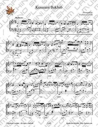 Kenaram Bekhab Sheet Music