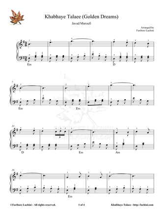 Khabhaye Talaee Sheet Music