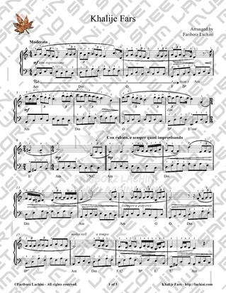 Khalije Fars Sheet Music
