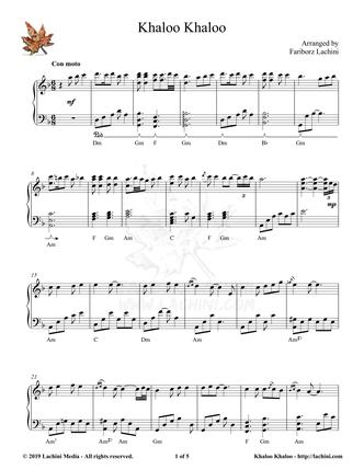 Khaloo Khaloo Sheet Music