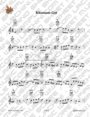 Khanoom Gol Sheet Music
