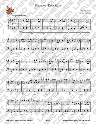 Khanoom Koja Koja Sheet Music
